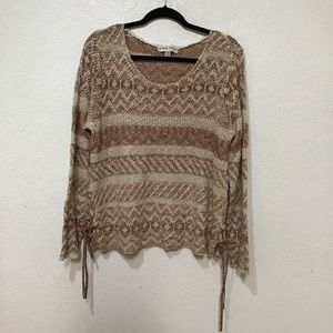 Knox Rose knot blouse-sweater